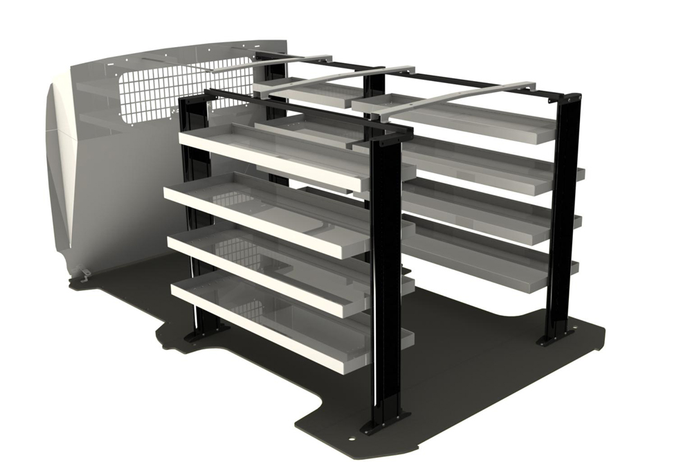New HiAce Cube Van Shelving